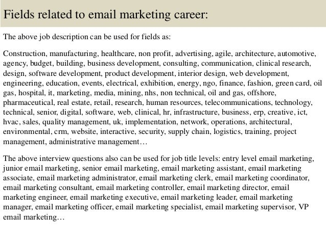 Email Marketing Executive Job Description  Best Market