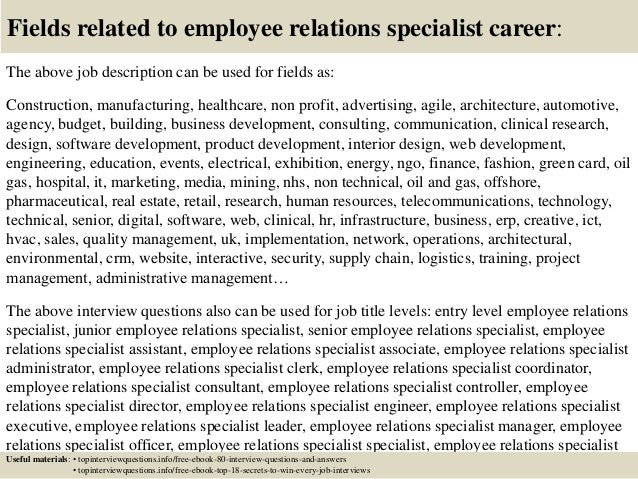 17 Fields Related To Employee Relations Specialist