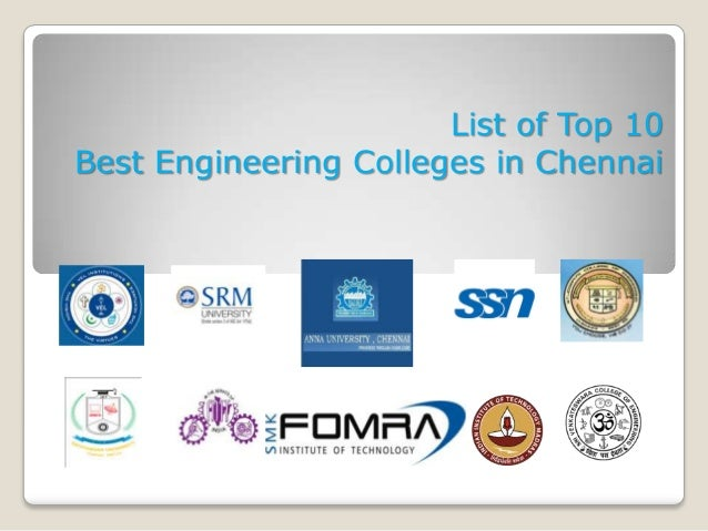 List of Top 10 Best Engineering Colleges in Chennai