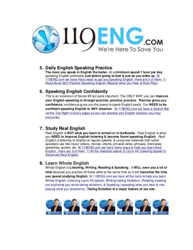 How to speak english fluently?