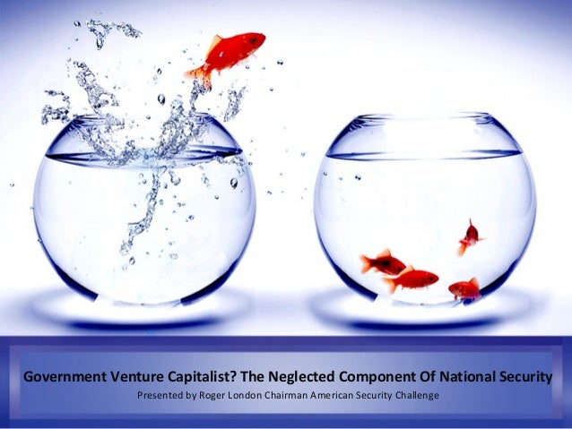 Government Venture Capitalist? The Neglected Component Of National Security Presented by Roger London Chairman American Se...