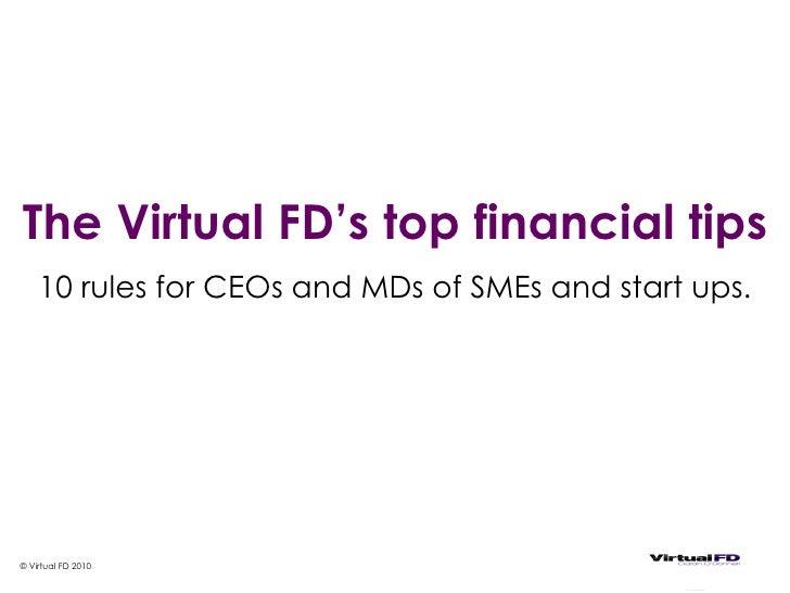 Top 10 Financial Tips