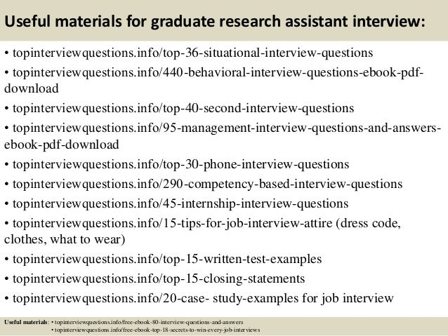 top graduate research assistant interview questions and answers  12