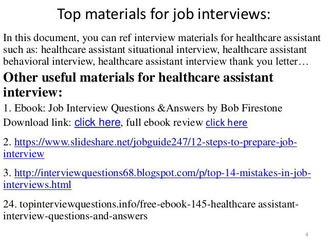 top 10 healthcare assistant interview questions and answers