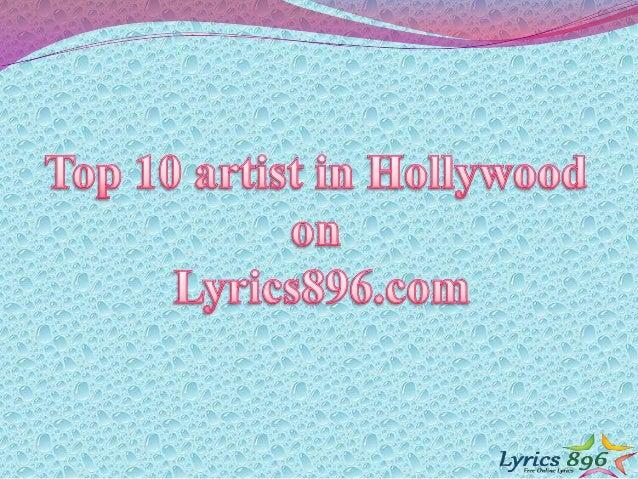 Top 10 hollywood artist