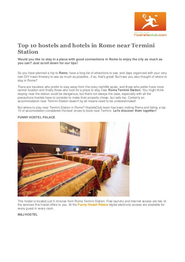 Best Hotels Near Termini Station Rome