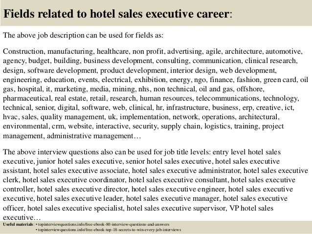 Top 10 hotel sales executive interview questions and answers