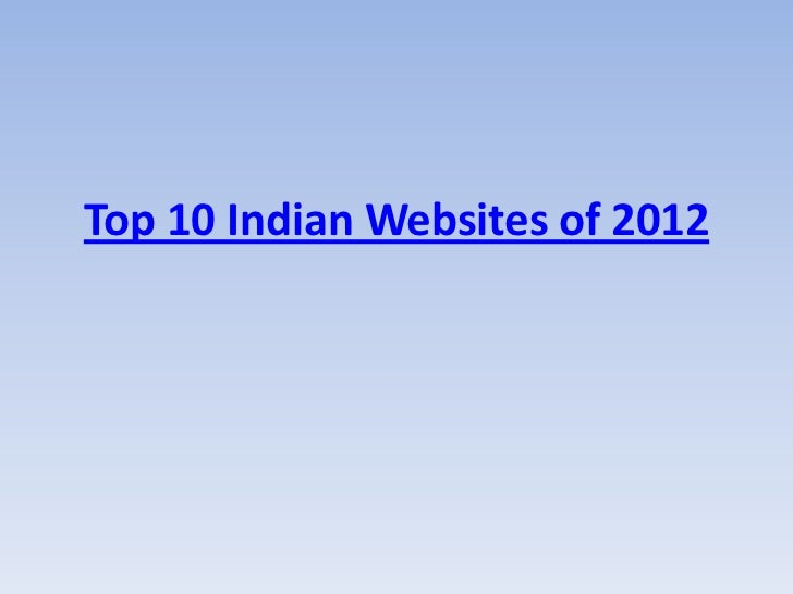 Top 10 Indian Websites of 2012