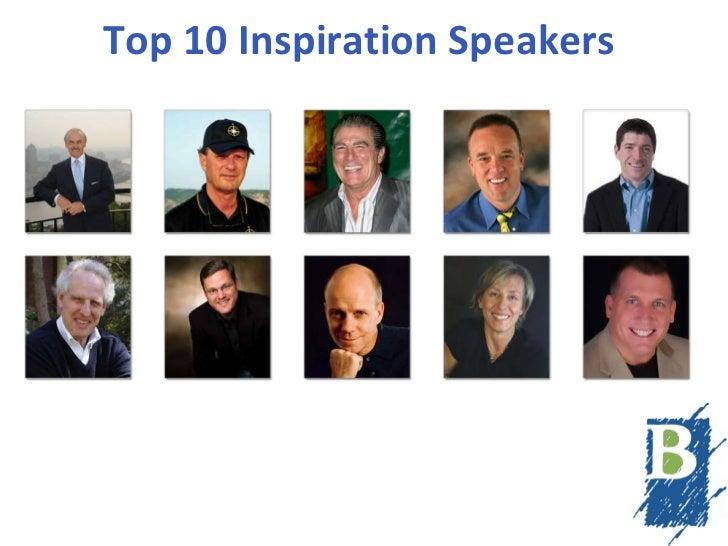 Top 10 Inspiration Speakers