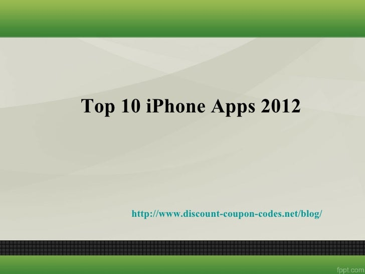Top 10 i phone apps 2012