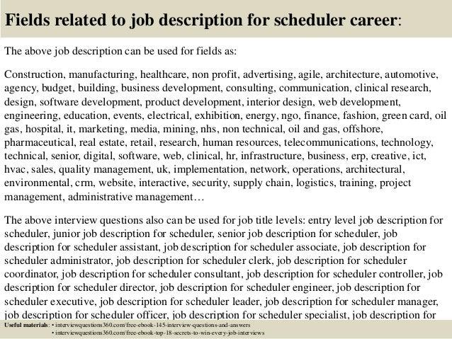 project scheduler job description resume evaluations 1000 resume – Scheduler Job Description