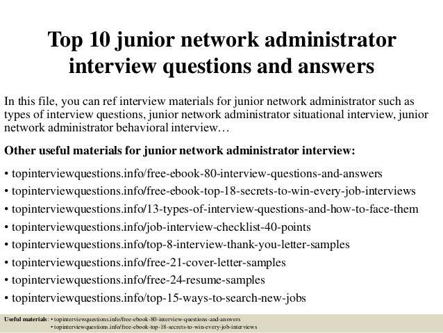 network administration resume entry level network admin resume