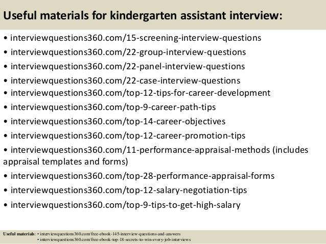 Worksheets Questions For Kindergarten top 10 kindergarten assistant interview questions and answers 16 useful materials for kindergarten