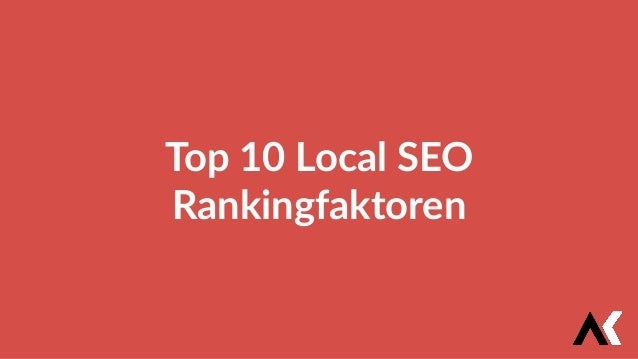 Top 10 Local SEO Rankingfaktoren
