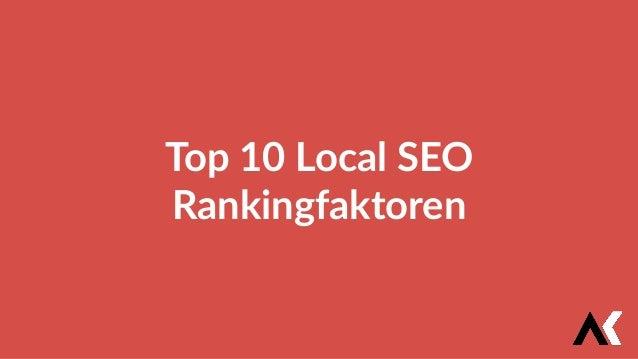 Top 10 Local SEO Rankingfaktoren