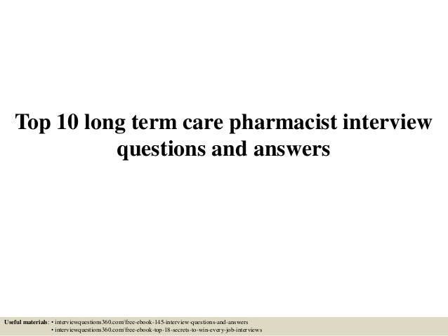 Long term care pharmacist sample resume