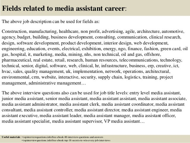 Top 10 Media Assistant Interview Questions And Answers