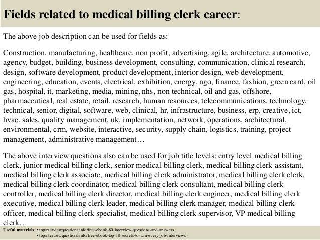 Billing Coordinator Job Description. Billing Manager Resume ...