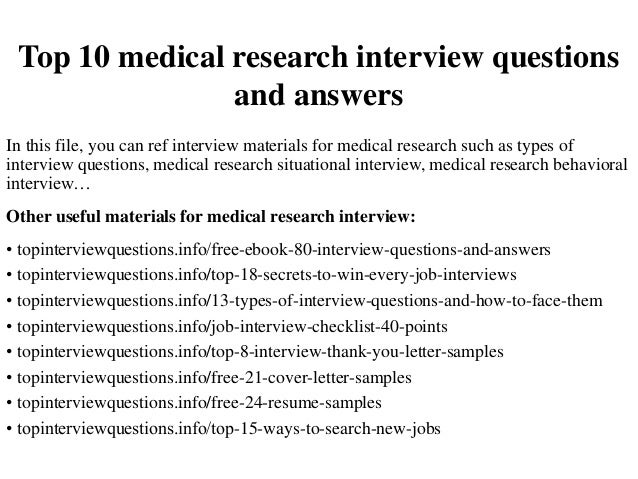 interview questions for research paper