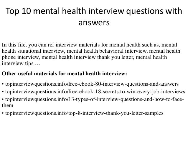 mental health questions