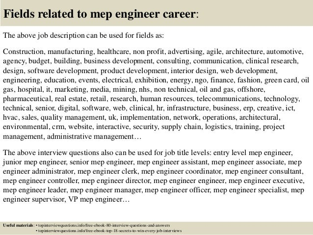 Questions about engineer?