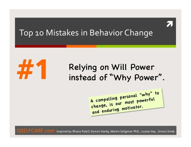 Top 10 mistakes in behavior change and the solutions