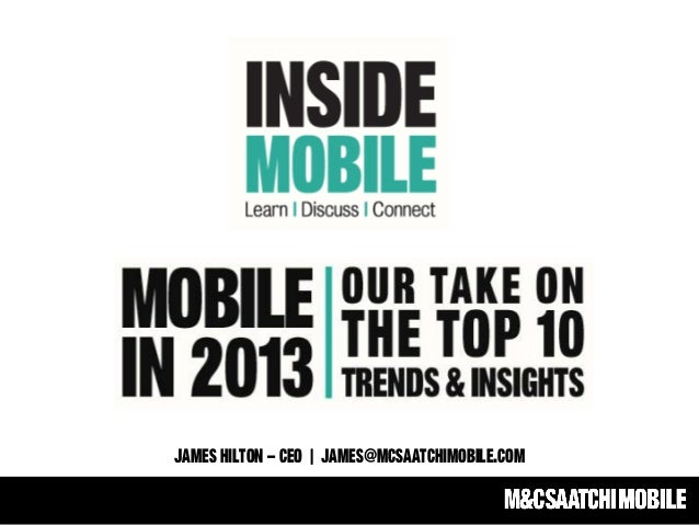 Mobile in 2013: Our Take On The Top Trends & Insights