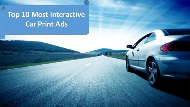Top 10 Most InteractiveCar Print Ads
