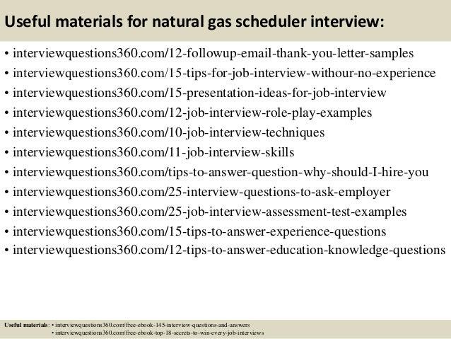 Natural Gas Scheduler Jobs ... 15. Useful materials for natural gas scheduler ...