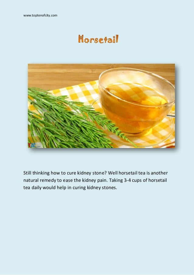 How To Cure Kidney Stones Naturally With Food