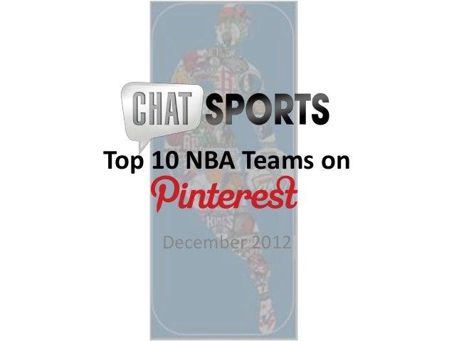 Top 10 NBA Teams on    December 2012