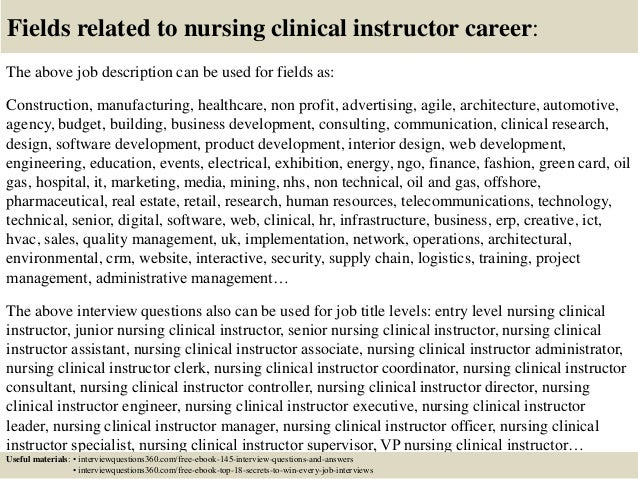 top  nursing clinical instructor interview questions  answers