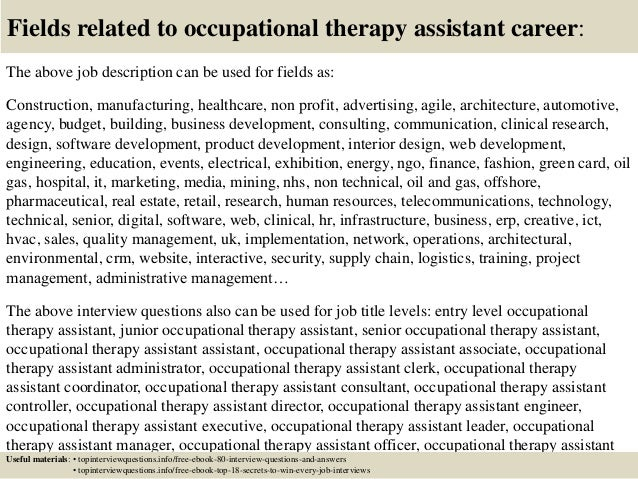 Occupational Therapy top ten business careers