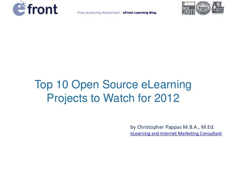 Top 10 open source eLearning projects to watch for 2012