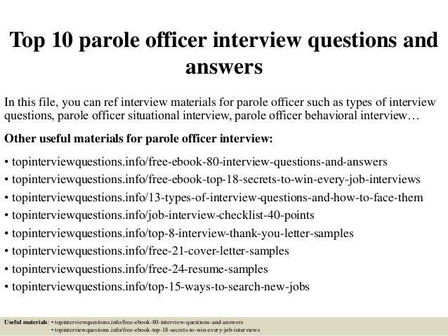essay on probation officer