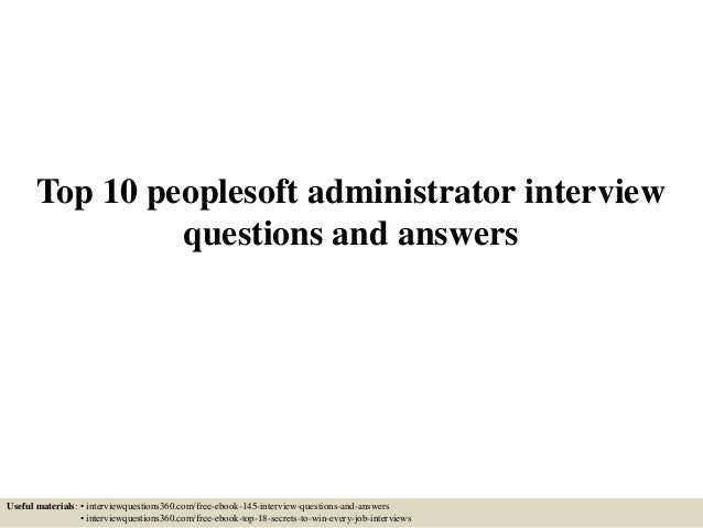 peoplesoft interview questions and answers pdf free