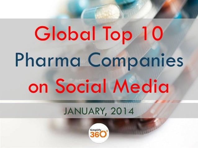 Global Top 10 Pharma Companies on Social Media JANUARY, 2014