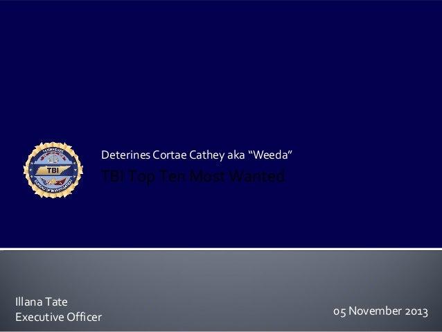"""Deterines Cortae Cathey aka """"Weeda"""""""