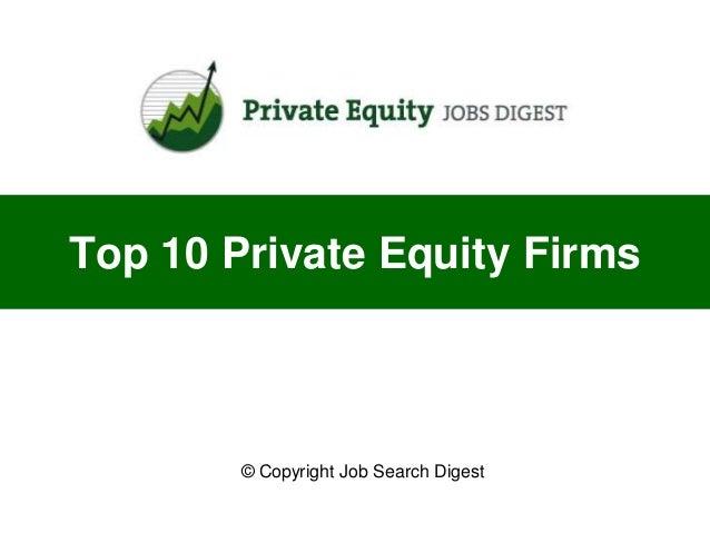 Top 10 private equity firms for Top 10 design firms