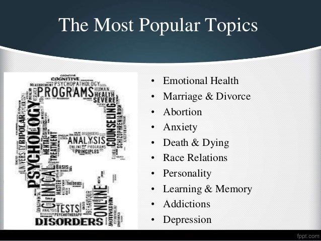Topics for a research paper in abnormal psychology