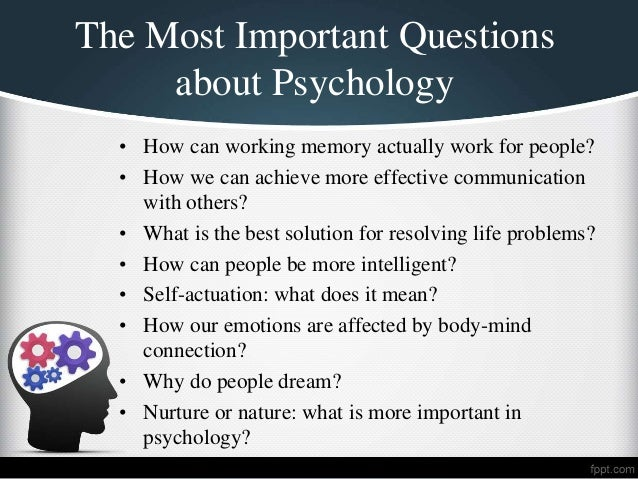 Psychology problem research topics