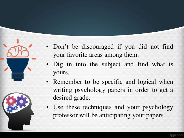 List Of Psychology Research Paper Topics