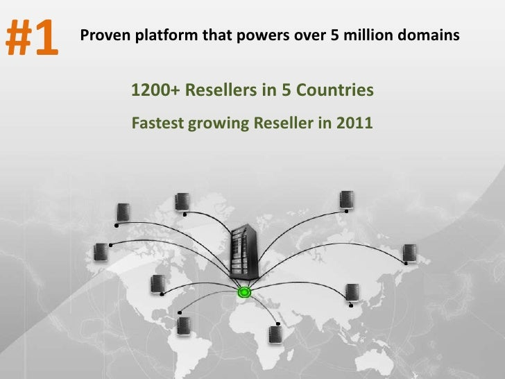 #1   Proven platform that powers over 5 million domains           1200+ Resellers in 5 Countries           Fastest growing...