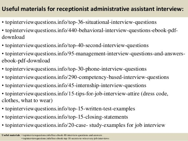 Administrative Assistant/ Receptionist?