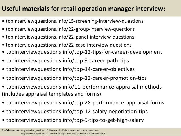 top retail operation manager interview questions and answers  15 useful materials for retail operation manager interview