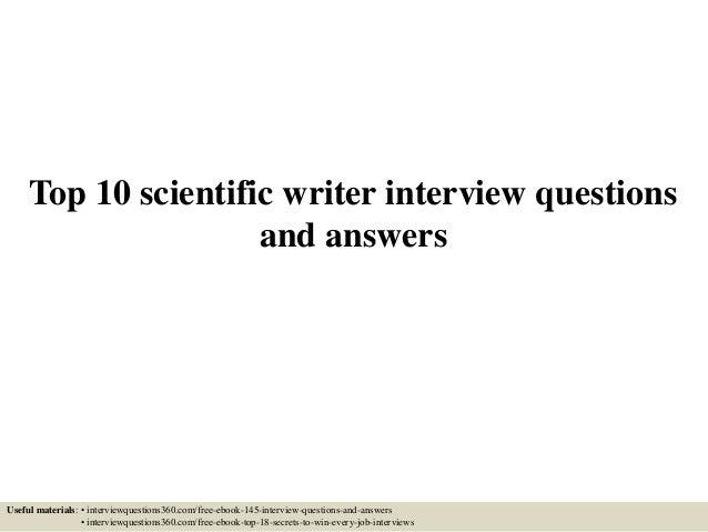 Writing an interview paper