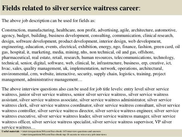 silver service waitress job description silver service waiting – Waitress Job Description