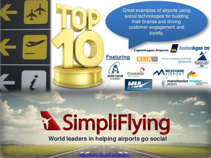 Top 10 Social Media Initiatives by Airports