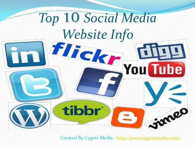 Top 10 Social Media Websites
