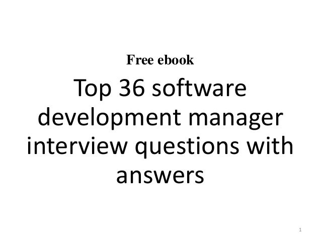 Top 10 software development manager interview questions